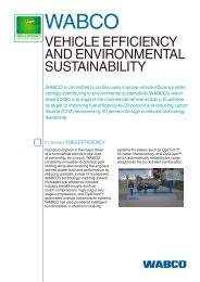 vehicle efficiency and environmental sustainability - WABCO
