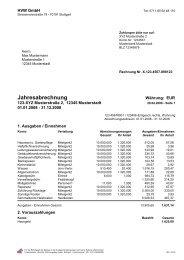 Jahresabrechnung - HVW Gmbh – Hausverwaltung Wachter