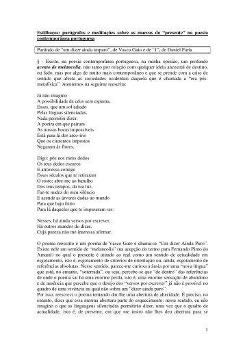 F) Guia Temático do Curso de Poesia Portuguesa