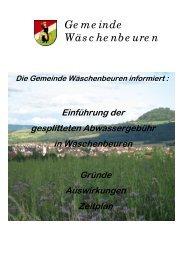 Informationsbroschüre Einführung der ... - Wäschenbeuren
