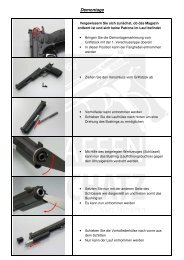 Anleitung Demontage - Montage - Pflege - Waffen-Oschatz