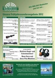 unsere frühjahrssonderangebote 2012 - Waffen Schmithüsen