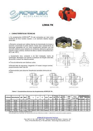 ACOPLAMENTO TN - ACRIFLEX - Acoplamentos Flexíveis