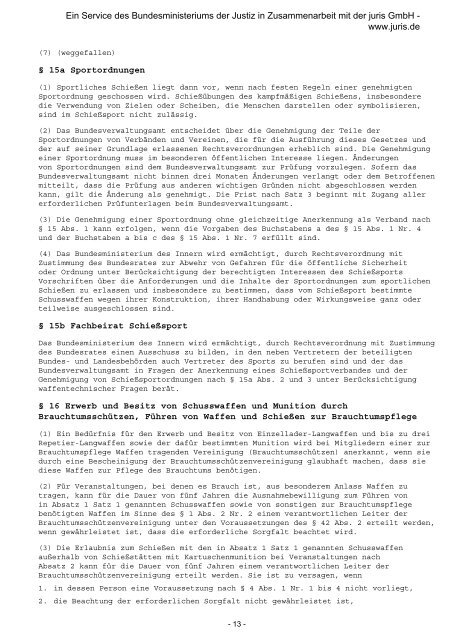 Waffengesetz (WaffG) - Waffensammler Kuratorium