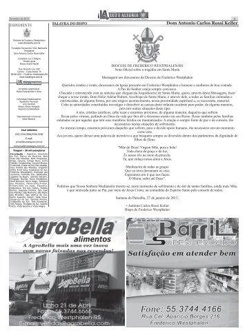 Jornal Luz e Alegria - Diocese de Frederico Westphalen