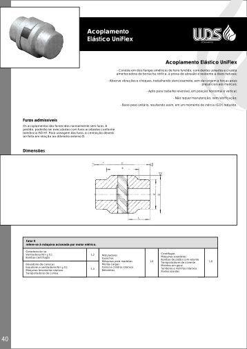 Acoplamento Elástico UniFlex - WDS Acoplamentos