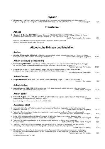 Altdeutsche Münzen Und Medaillen Westfälische