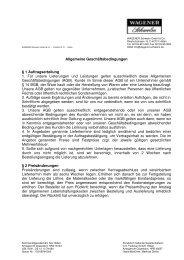 Wir haben neue AGB ! - (PDF-Download) - WAGENER Schwelm ...