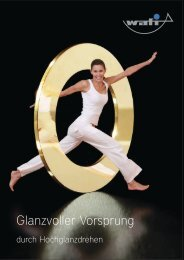 Glanzvoller Vorsprung - wafi Walter Fischer GmbH & Co. KG
