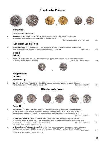 Griechische Münzen Römische Münzen - Westfälische ...