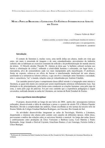 música popular brasileira e literatura - Univates