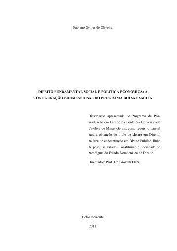 Direito fundamental social e política econômica - Unisc