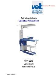 Betriebsanleitung Operating Instructions VEIT ... - Wasco Rosal AG