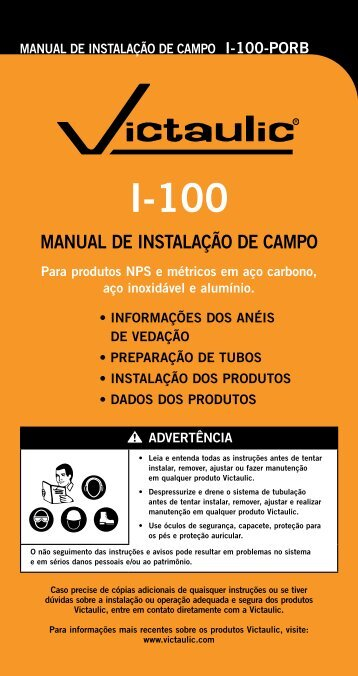 MANUAL DE INSTALAÇÃO DE CAMPO - Victaulic
