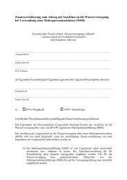 Zusatzvereinbarung zum Antrag auf Anschluss an die ...