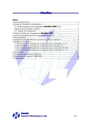 Acoplamentos elásticos HXP - Girus Acionamentos