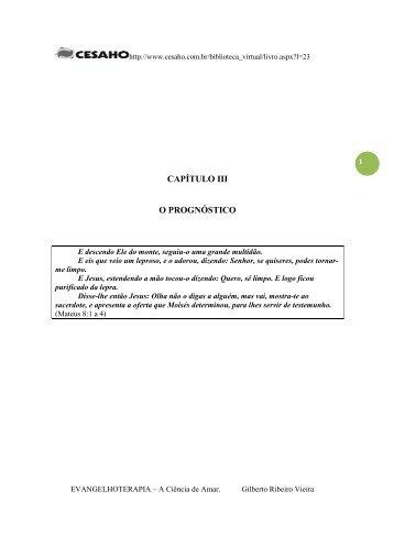 CAPÍTULO III O PROGNÓSTICO - cesaho