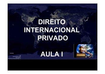 AULA I INAUGURAL DIREITO INTERNACIONAL ... - Onegro.com.br