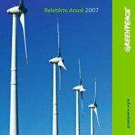 Relatório Anual 2007 - Greenpeace