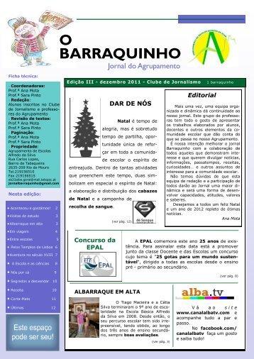 BARRAQUINHO O - Agrupamento de Escolas Alfredo da Silva