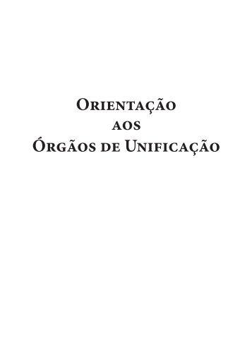 Orientação aos Órgãos de Unificação - Federação Espírita Brasileira