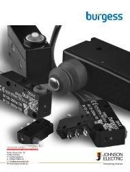 Burgess Switch Catalog Johnson Electric - Wagner GmbH