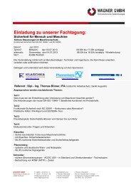 Vorlage Brief - Wagner GmbH