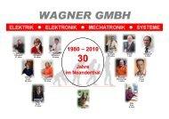 Jahre im Neanderthal - Wagner GmbH
