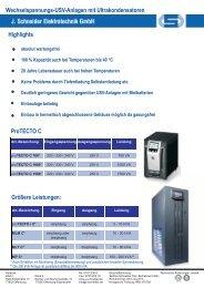 Wechselspannungs-USV-Anlagen mit ... - Wagner GmbH