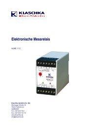 Messrelais ALME - Wagner GmbH