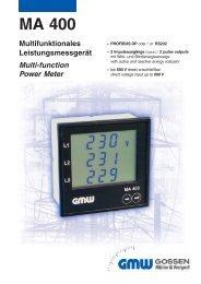 Multifunktionsgerät MA 400  - Wagner GmbH