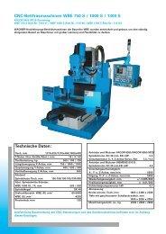 CNC-Bettfräsmaschinen WBE 750 S / 1000 S / 1300 S Technische ...