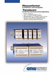 Messumformer Transducers - Wagner GmbH