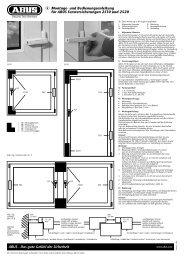D Montage- und Bedienungsanleitung für ABUS ...