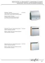 Pdf-Katalog von SERAFINI - Briefkasten.com