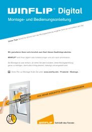 Montageanleitung WINFLIP Digital - Wagner Sicherheitstechnik GmbH