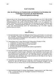 Satzung über die Erhebung von Kostenersatz und ... - Wahlstedt