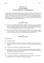 Satzung der Stadt Wahlstedt über die Erhebung von