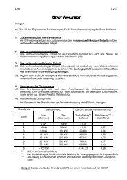 Anlage 1 zu § 16 der Ergänzenden Bestimmungen für ...  - Wahlstedt