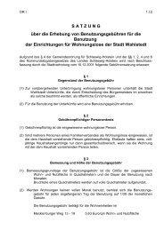 Satzung über die Erhebung von Benutzungsgebühren ... - Wahlstedt