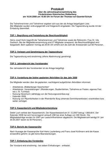 1. Jahreshauptversammlung vom 16.04.2008 - Förderkreis ...