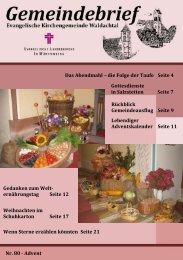 Nr. 80 Gemeindebrief Advent 2011 - Evangelische ...