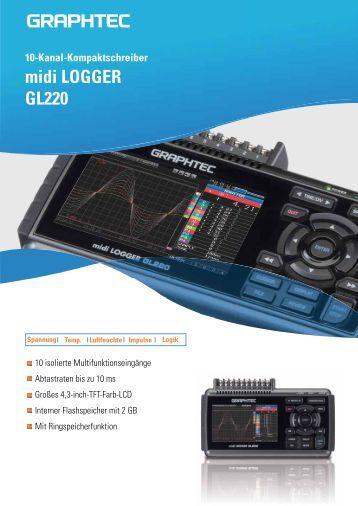Gl220 Midi Data Logger : Tastenbelegung tastenbele