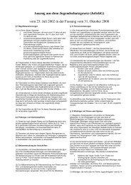 Auszug aus dem Jugendschutzgesetz (JuSchG)