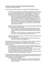 Fachforum 1: Zusammenarbeit von Schule/Verein/Jugendarbeit ...