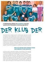 DER KLUB DER - Waldhaus Jugendhilfe