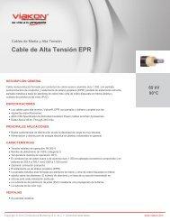 Cable de Alta Tensión EPR - Viakon ® Conductores Monterrey