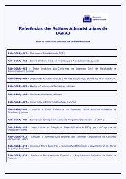 Referências das Rotinas Administrativas da DGFAJ - Tribunal de ...