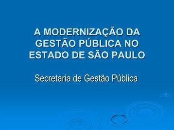 A gestão pública do Governo de São Paulo - SEARH