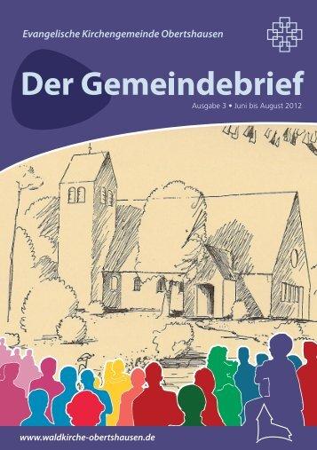 Gemeindebrief - Waldkirche Obertshausen